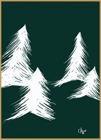 Forêt de sapin 15x21 cm